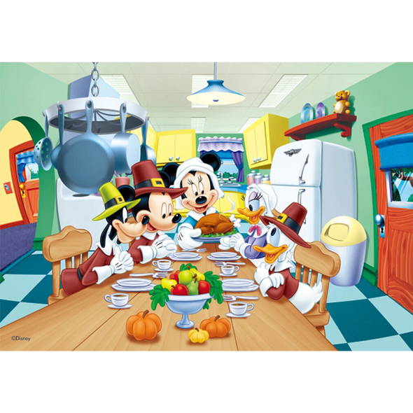 Mickey Mouse and Friends - Thanksgiving - Disney - 3D Lenticular Poster - 10x14
