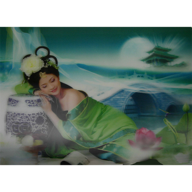 Asian Beauty Dreaming - 3D Lenticular Poster - 10 X 14