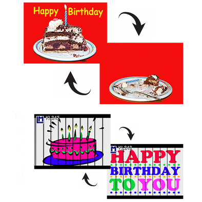 2 Happy Birthday  - 3D Action Lenticular Postcard Greeting Cards