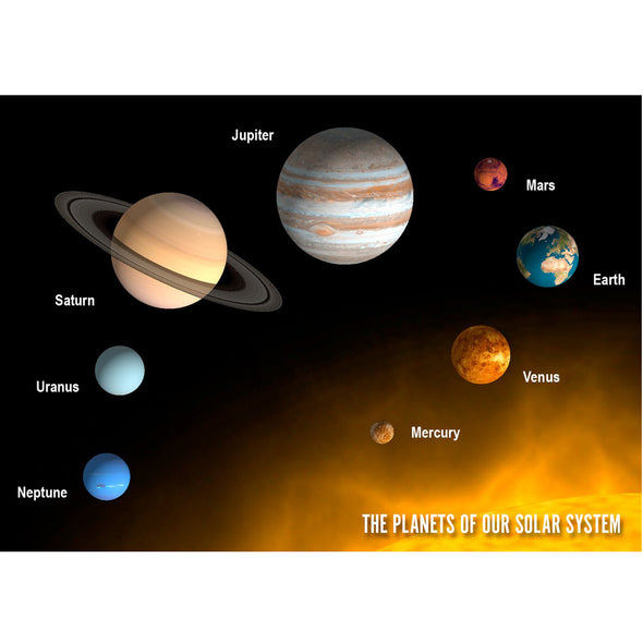 Planets of Our Solar System - 3D Lenticular Postcard Greeting Card