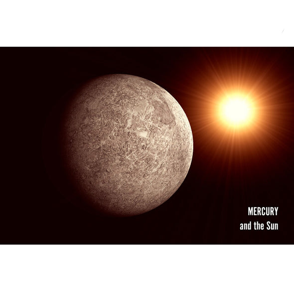 Mercury and the Sun - 3D Lenticular Postcard Greeting Card