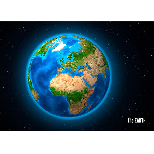 Earth - Showing Europe and Africa - 3D Lenticular Postcard Greeting Card