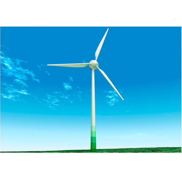 Wind Turbine - 3D Action Lenticular Postcard Greeting Card