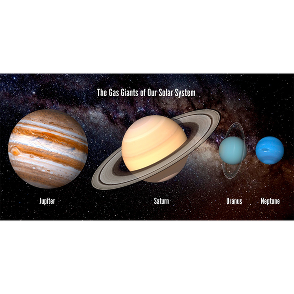 Solar System - Gas Giants - 3D Lenticular Postcard Greeting Card - Oversize