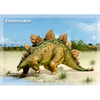 Stegosaurus - Dinosaur - 3D Action Lenticular Postcard Greeting Card