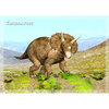 Triceratops - Dinosaur - 3D Action Lenticular Postcard Greeting Card