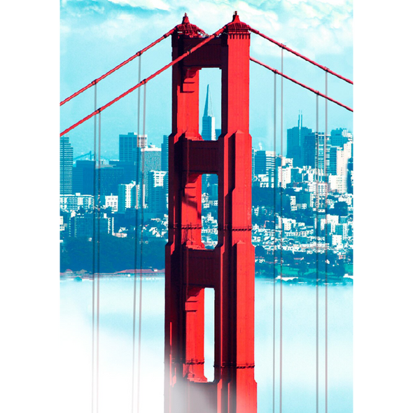 Golden Gate Bridge - 3D Lenticular Postcard Greeting Card