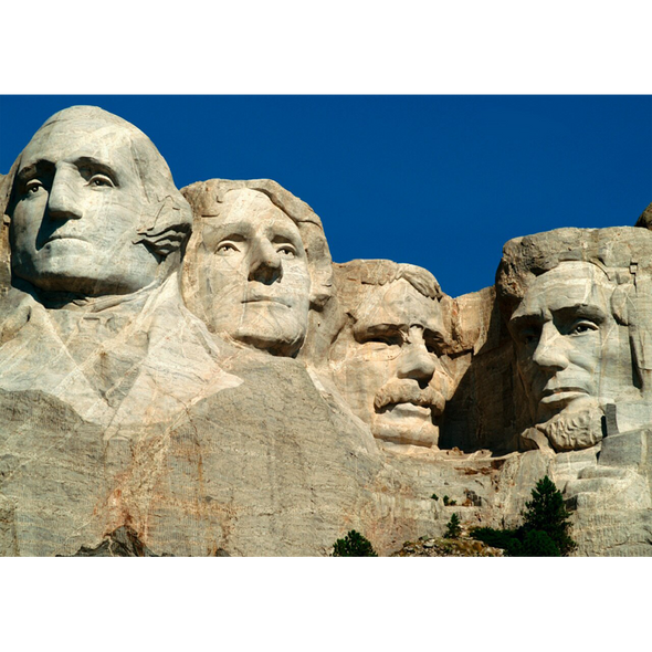 Mount Rushmore - 3D Lenticular Postcard Greeting Card