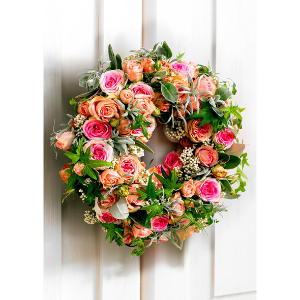 Wreath of Roses - 3D Lenticular Postcard Greeting Card