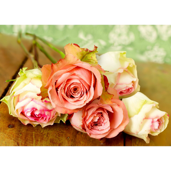 Roses - 3D Lenticular Postcard Greeting Card