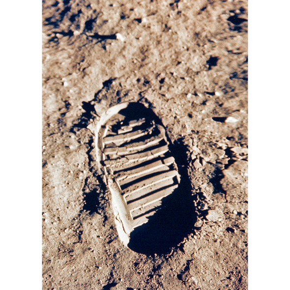 Apollo 11 footprint - 3D Lenticular Postcard Greeting Card