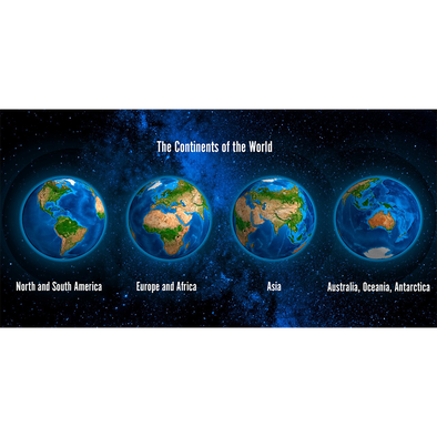 Action Lenticular Postcard Greeting Card Rotating Earth