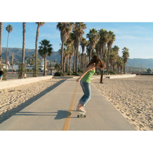 Skateboarding in Santa Barbara, California - 3D Action Lenticular Postcard Greeting Card