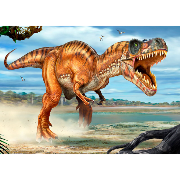 Tyrannosaurus Rex attacking - Dinosaur - 3D Lenticular Postcard Greeting Card