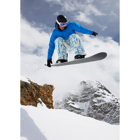 Winter Sports - Snowboarding - 3D Lenticular Postcard Greeting Card