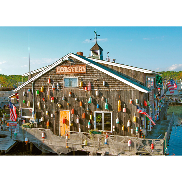 New England lobster shack - 3D Action Lenticular Postcard Greeting Card