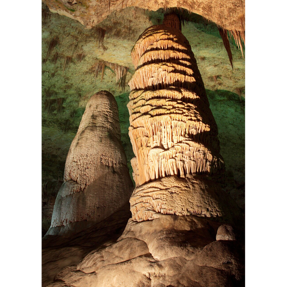 Hall of Giants, Carlsbad Caverns - 3D Lenticular Postcard Greeting Card