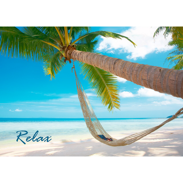 Relax - 3D Lenticular Postcard Greeting Card