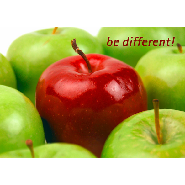 Be Different!  - 3D Lenticular Postcard Greeting Card