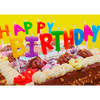 Happy Birthday Candle - 3D Action Lenticular Postcard Greeting Card