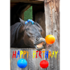 Happy Birthday - Horses - 3D Action Lenticular Postcard Greeting Card