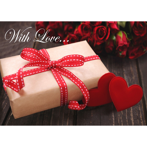 With Love... - 3D Lenticular Postcard Greeting Card