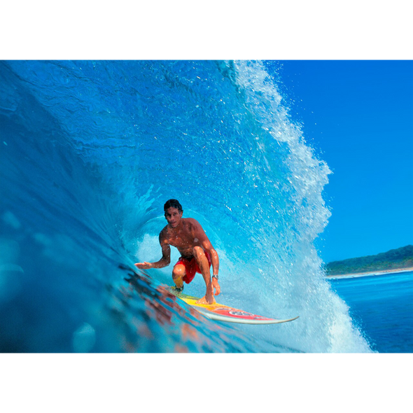 Surfer in the Curve of a Wave - 3D Lenticular Postcard Greeting Card