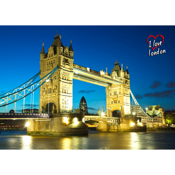 Tower Bridge by Day and Night - 3D Action Lenticular Postcard Greeting Card