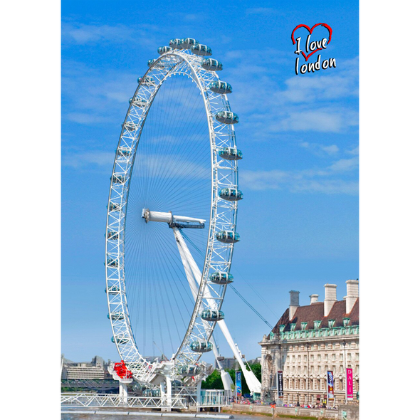 London Eye - 3D Lenticular Postcard Greeting Card