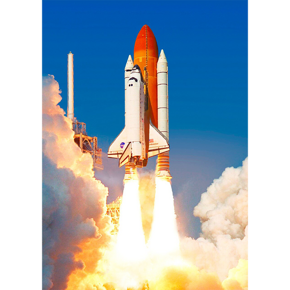 Space Shuttle Endeavour - 3D Lenticular Postcard Greeting Card