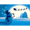 Snowman Waving at Santa - 3D Action Lenticular Postcard Greeting Card