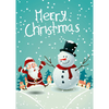 Santa and Frosty - 3D Action Lenticular Postcard Greeting Card