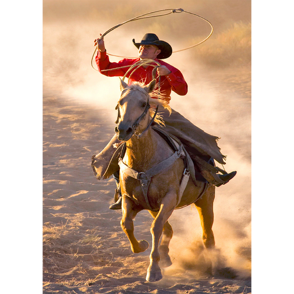 Cowboy with Lasso - 3D Lenticular Postcard Greeting Card