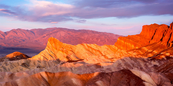 Death Valley from Zabriskie Point - 3D Lenticular Postcard Greeting Card - Oversize