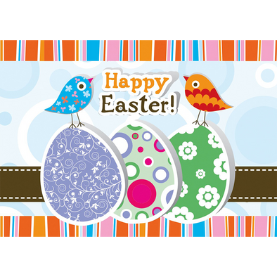Happy Easter - Easter Chicks - Easter Wish - 3D Action Lenticular Postcard Greeting Card