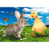 Happy Easter - Bunny and Chick - 3D Action Lenticular Postcard Greeting Card