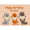 Happy Birthday To You - 3D Action Lenticular Postcard Greeting Card