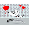 Happy Birthday - Dog - 3D Action Lenticular Postcard Greeting Card