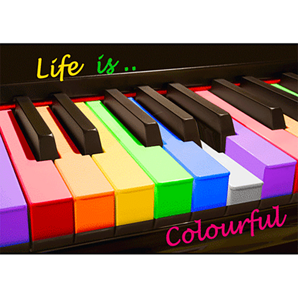 Life Is Colourful - 3D Action Lenticular Postcard Greeting Card