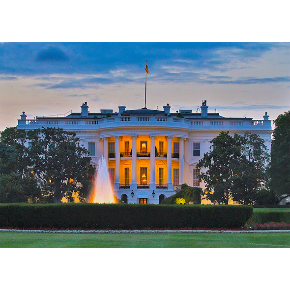 White House by Day and Night, Washington, D.C. - 3D Lenticular Postcard Greeting Card