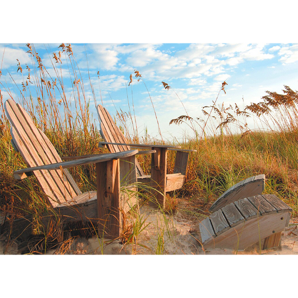 Adirondack Chairs  - 3D Lenticular Postcard Greeting Card