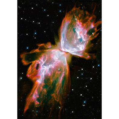 Butterfly Nebula - 3D Lenticular Postcard Greeting Card