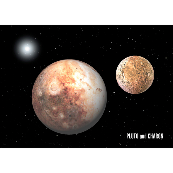 Pluto Moon Charon - 3D Lenticular Postcard Greeting Card