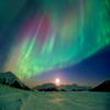 Aurora Borealis #2 - 3D Action Lenticular Postcard Greeting Card - Maxi
