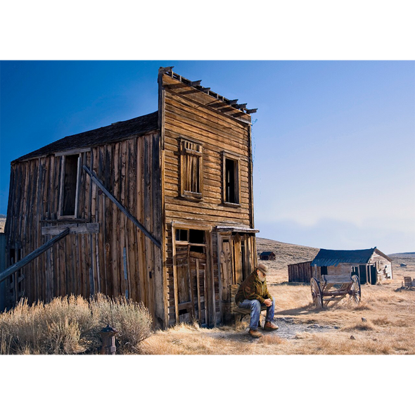 Ghost Town of the American West - 3D Lenticular Postcard Greeting Card