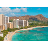 Waikiki, Hawaii by Day & Night - 3D Action  Lenticular Postcard Greeting Card