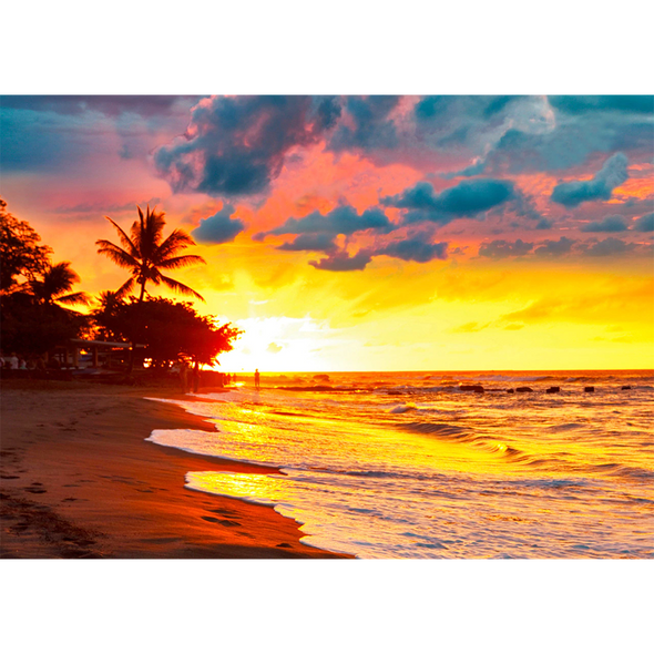 Beautiful Tropical Sunset - 3D Lenticular Postcard Greeting Card