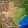 Texas Map by Day and Night - 3D Action Lenticular Postcard Greeting Card - Maxi