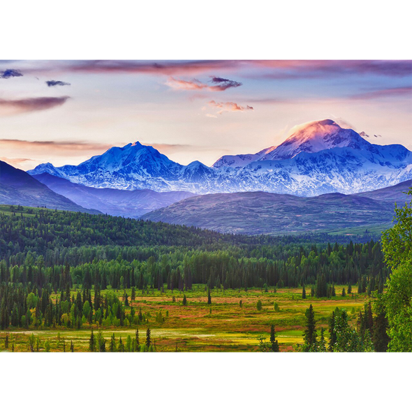 Denali and Alaska Range - 3D Lenticular Postcard Greeting Card