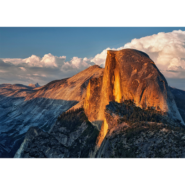 Half Dome at Sunset - 3D Lenticular Postcard Greeting Card